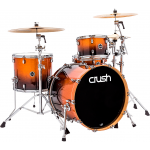 Crush Drums & Percussion Sublime E3 Maple 4-Piece Shell Pack with 22×18″ Bass Drum Copper Sparkle Black Fade
