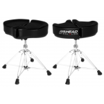 Ahead Spinal G Drum Throne  Black Cloth Top and Black Sides 18 in.